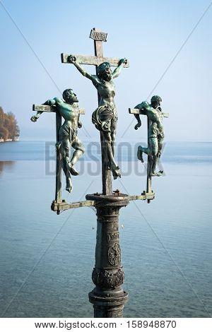 Monument of Crucifixion Group on Island Mainau, Germany
