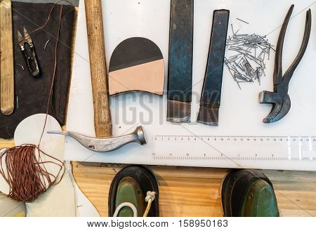 Set of tools for shoemaker
