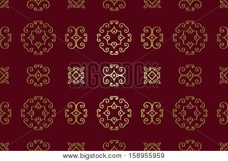 abstract background burgundy color elements vintage embossed golden patterns
