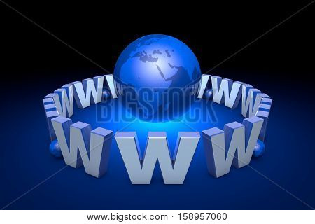 Globalization. International communication system. New information technologies. Internet addiction (image metaphor). Available in high-resolution and several sizes to fit the needs of your project. 3D illustration rendering.