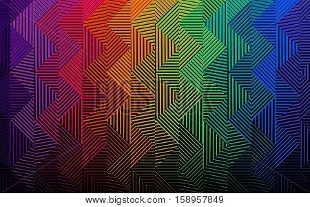 Vector  halftone gradient pattern, with colorful zigzag background. Abstract design.