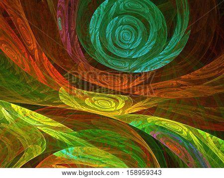 Abstract fractal background - computer-generated image. urls. Fractal artwork for banners posters web design. Vivid background for covers posters prints.