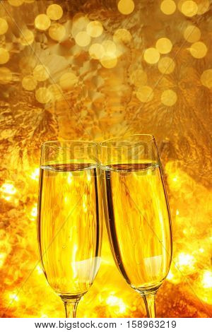 With champagne toast, to Valentine's Day or New Year's Eve