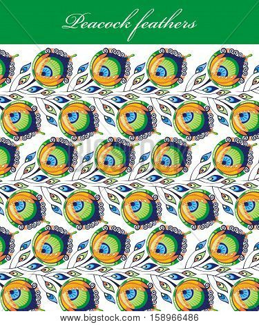 Peacock feathers pattern for your design. Peacock feathers
