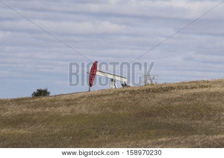 An Oil well on the North Dakota Prairie