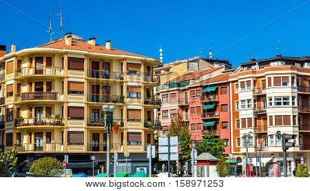 Buildings in the old town of Irun - Spain, Basque Country