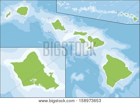 Hawaii is the 50th and most recent state of the United States of America. It is the northernmost island group in Polynesia