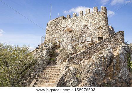Castle in Penha Garcia village on a rocky hill, Idanha-a-Nova, district of Castelo Branco, Portugal
