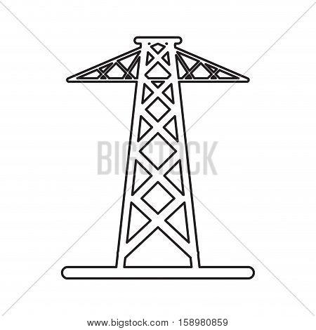pictogram electrical tower transmission energy power vector illustration eps 10