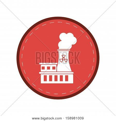 nuclear power station energy pollution pink circle vector illustration eps 10