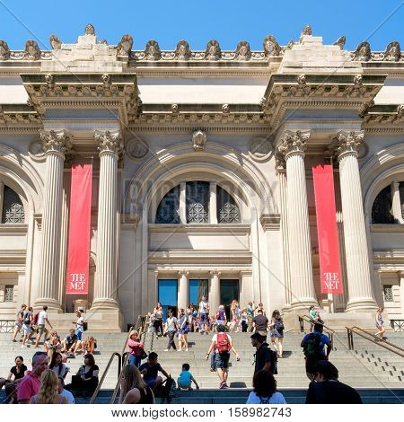 NEW YORK,USA - AUGUST 23,2016 : The Metropolitan Museum of Art in New York City