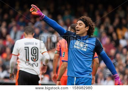 VALENCIA, SPAIN - NOVEMBER 20th: Ochoa during La Liga soccer match between Valencia CF and Granada CF at Mestalla Stadium on November 20, 2016 in Valencia, Spain