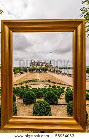 Amboise castle in Val de Loire, France