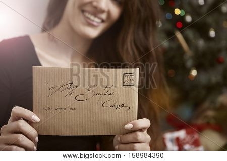 Woman wrote a letter to Santa