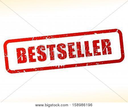 Illustration of bestseller stamp on white background