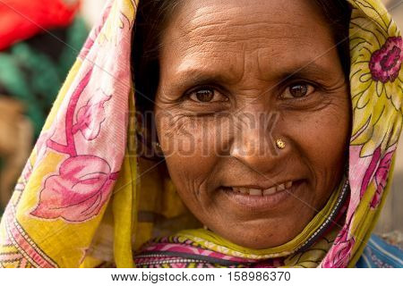 Portrait of an Indian woman