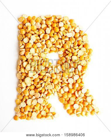 The peas Initials letter R.