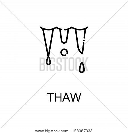 Thaw flat icon. Single high quality outline symbol of spring for web design or mobile app. Thin line signs of thaw for design logo, visit card, etc. Outline pictogram of thaw