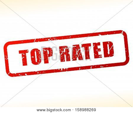 Illustration of top rated stamp on white background