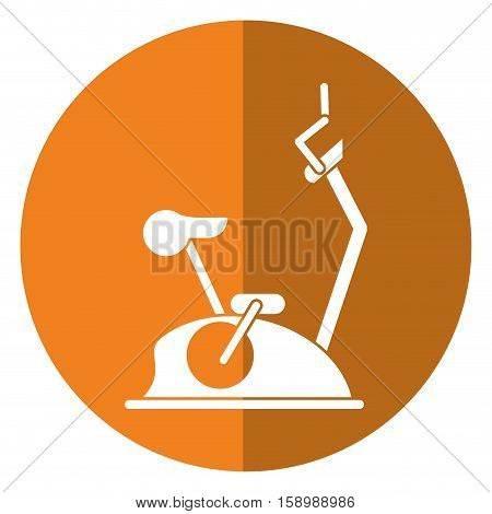 bike static machine fitness gym shadow vector illustration eps 10