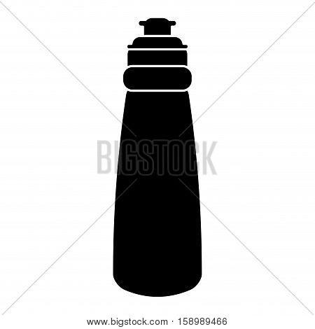 pictogram bottle water hydration fitness gym vector illustration eps 10