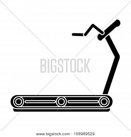 pictogram fitness walking machine gym design vector illustration eps 10