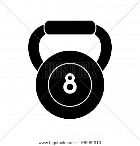 pictogram kettlebell weight fitness gym icon vector illustration eps 10