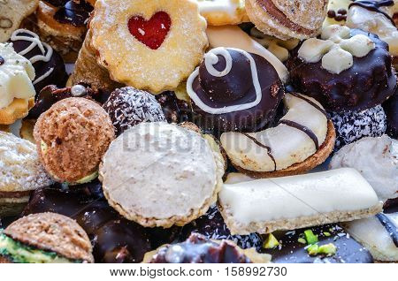 Christmas sweets.Homemade Christmas sweets.Christmas sweets background.Cookies handmade.