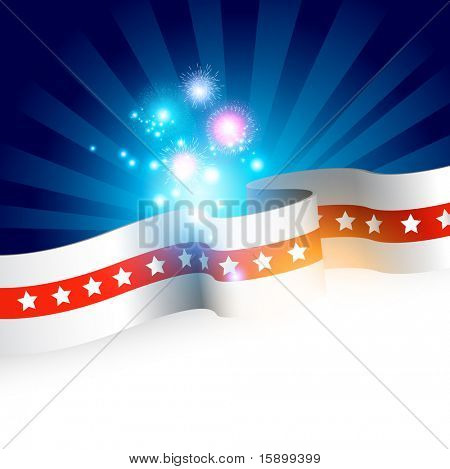 Stars And Stripes - Fourth of July Vector illustration