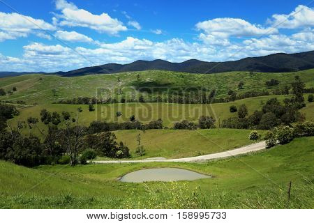 Beautiful view on hills at Buchan in Victoria, Australia