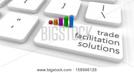 Trade Facilitation Solutions or Platform as Concept 3D Illustration Render