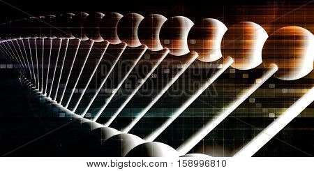 DNA Helix Abstract Science Genetic Background Art