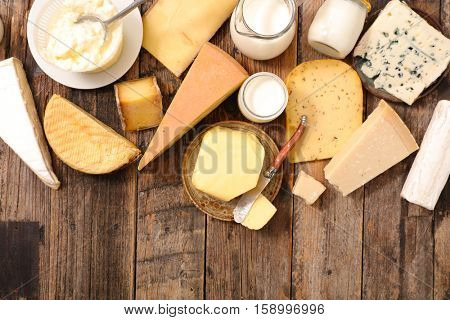 assorted cheese and dairy products