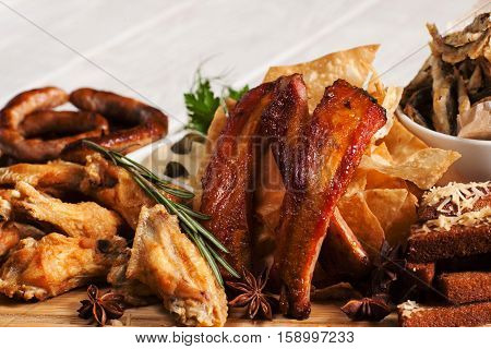 Snack Appetizing Bear Fat American Cuisine Fast Junk Food Concept