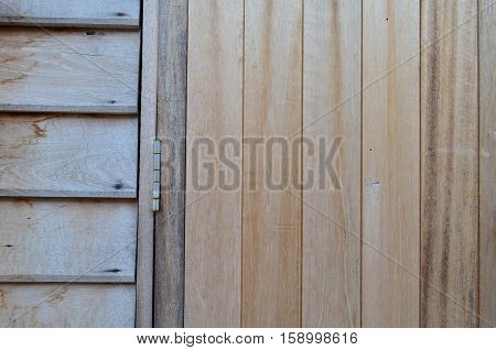 Old Wooden Wall Background And Texture With Hasp