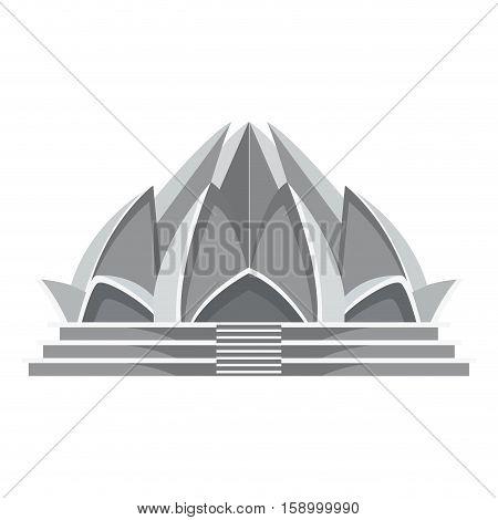 Lotus temple architecture icon vector illustration graphic design