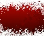 Abstract background with snowflakes. poster
