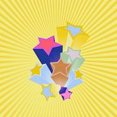 Colorful party stars. poster