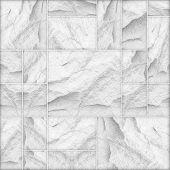 modern white slab slat stone wall background / white stone poster