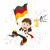 Vector - Germany Sport Fan with Flag and Horn poster