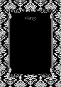 Vector damask frame. Easy to scale and edit. Pattern is included as seamless swatch poster
