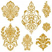 Set of ornate vector ornaments. Perfect for invitations or announcements. poster