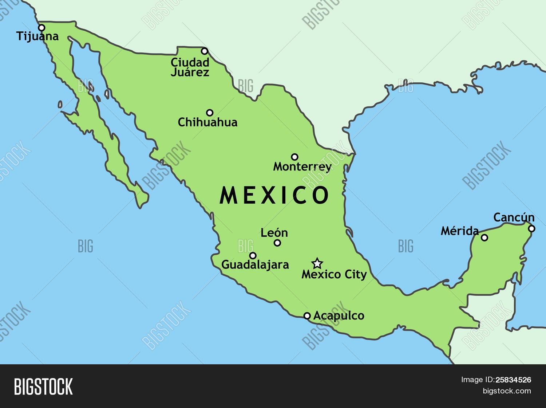 Map Of Mexico City Juarez