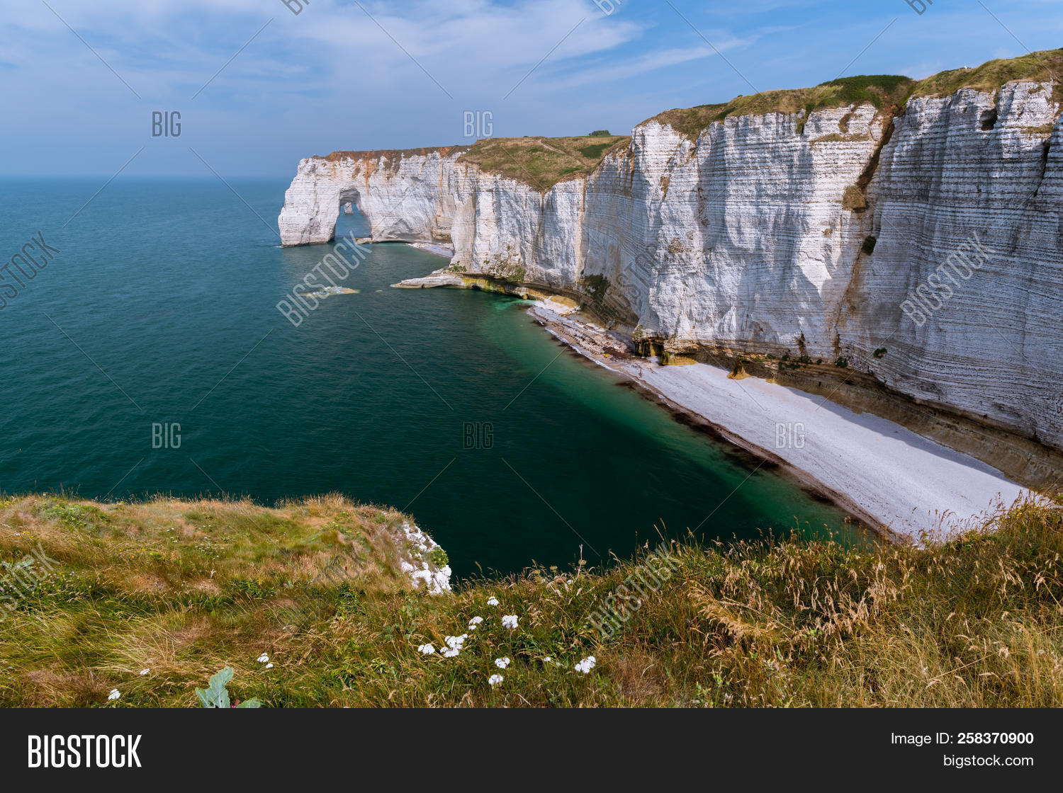 Chalk Cliffs Etretat Image Photo Free Trial Bigstock