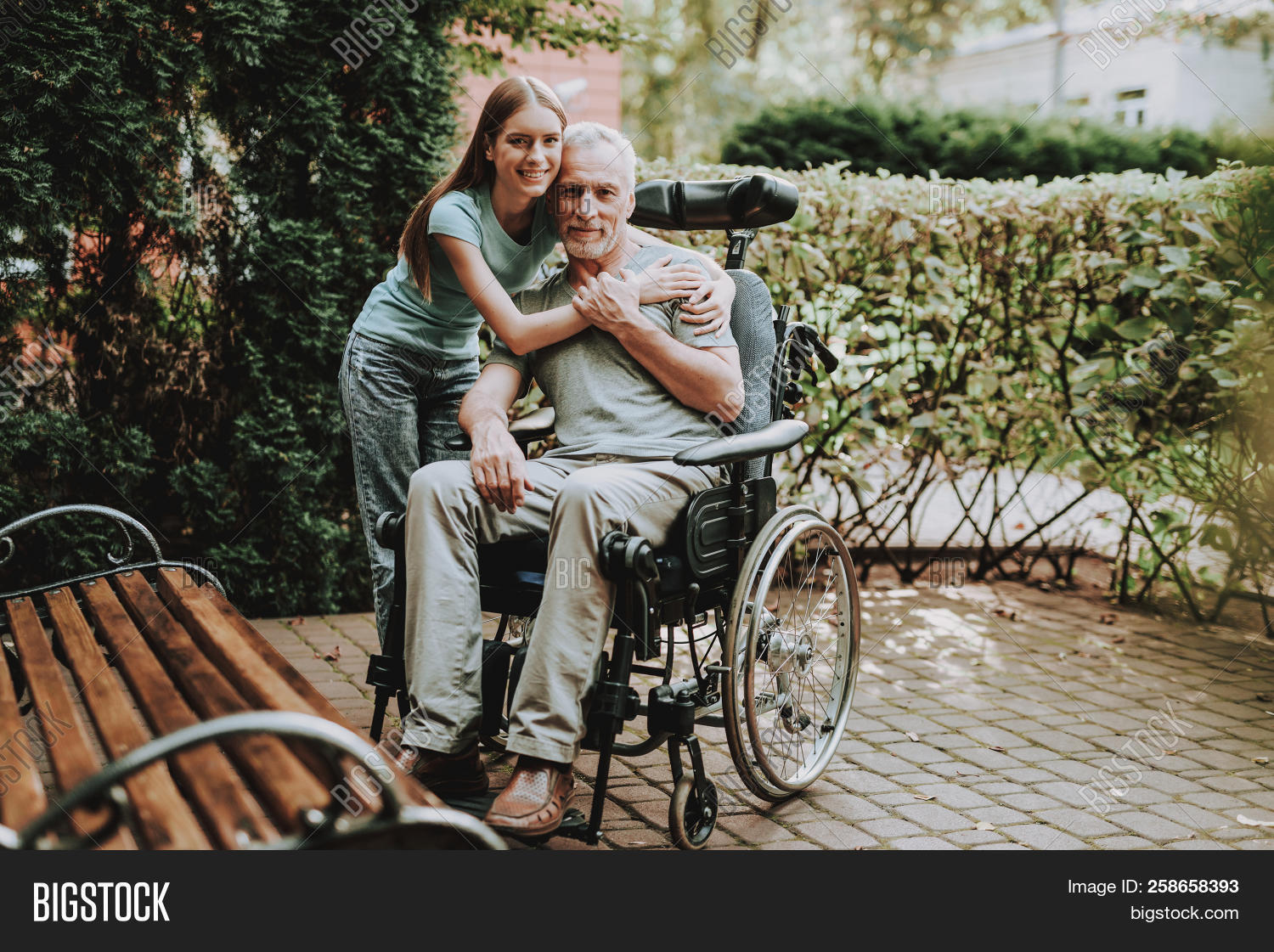 Disease Old Man Young Image Photo Free Trial Bigstock
