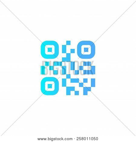 Qr Scanning Application Icons. Vector Simplified Qr Code Sample For Smartphone Scanning. Vector Illu