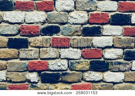Background image. Brick wall background. Colored brick wall background. Brick wall texture background. Brick wall pattern background. Brick wall. Backgrounds. Copy space.