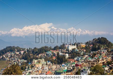 Kanchenjunga View From Darjeeling In Nice Weather, India