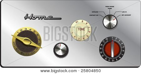 vintage knobs website buttons set 2