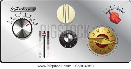 botones de la Página Web de perillas Vintage set 3